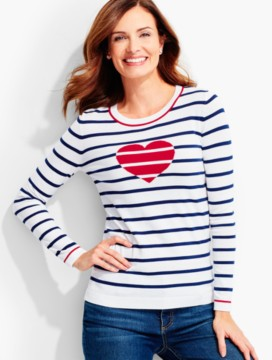 Stripes and Heart Sweater