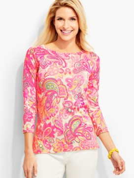 Bright Soiree Paisley Sweater