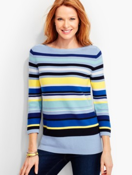 Mixed-Stripes Sweater