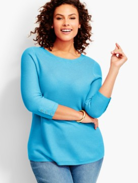 Tuck-Stitched Sweater-Fashion Colors