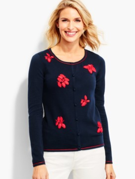 Charming Cardigan-Strawberry Embroidered