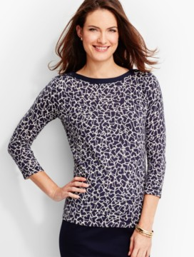 Button-Shoulder Sweater Topper-Hearts Aflutter