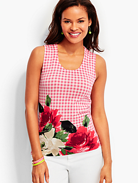 Charming Shell-Gingham & Roses