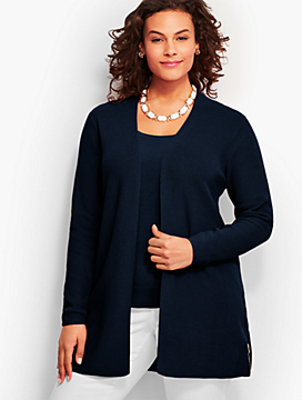 Side-Zip Flyaway Cardigan