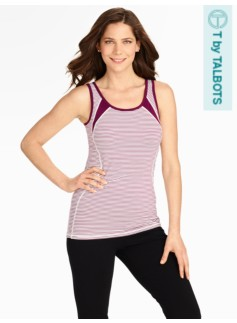Pro Stretch Mini Knit Stripe Tank