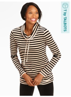 Solstice Striped Velour Top