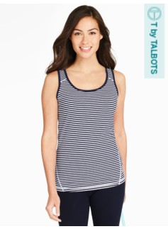 Fresh Jersey Tank- Lily Stripes
