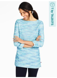 French Terry Boat-Neck Tunic-Space-Dyed