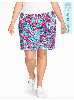 Yoga Skort-Watercolor Paisley