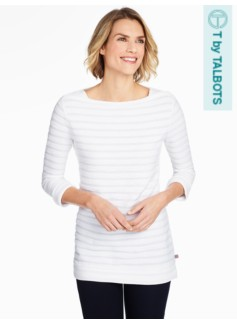 French Terry Boat-Neck Tunic