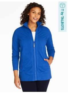 Tunic-Length Zip Yoga Jacket