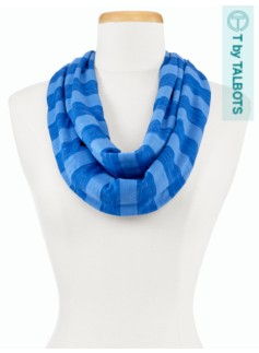Cool-Stripe Infinity Scarf