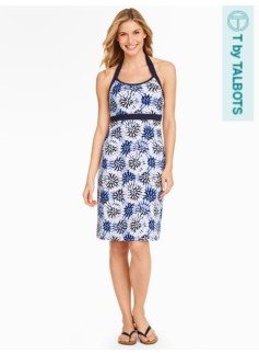 Halter Dress - Starburst Floral