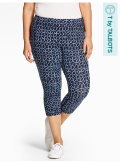 Yoga Capri - Dotted-Flower