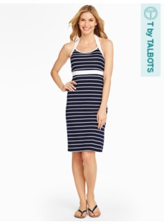 Halter Dress - Weekend Stripe