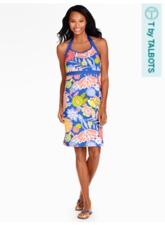 Halter Dress - Block Party Floral