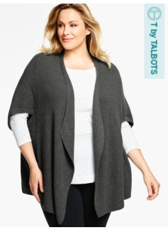 No-Close Short-Sleeve Cardigan