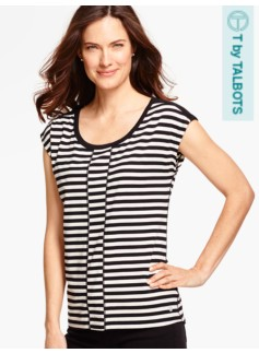Easy Jersey Tee - Colorblocked Stripes
