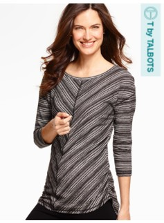 Mixed-Stripes Top