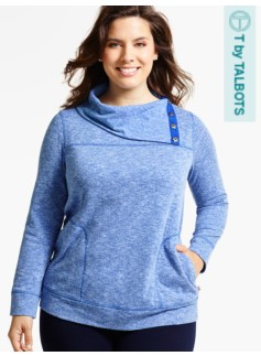 Snap-Cowlneck Top