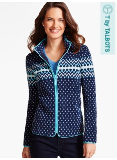 Fleece Jacket-Artic Diamond Fair Isle