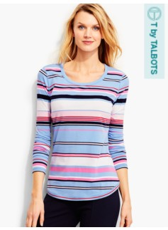 Everyday Long-Sleeve Tee-Getaway Stripe