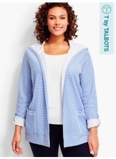 Cove Stripe Hooded Flyaway Cardigan