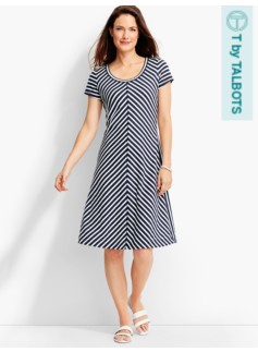 Mitered Stripes Dress