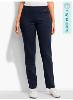 Straight-Leg Four-Pocket Pant