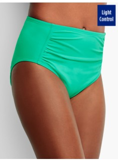 High-Waist Shirred Swim Bottoms - Miraclesuit(R)