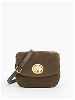 Suede Gold Apple Crossbody Bag