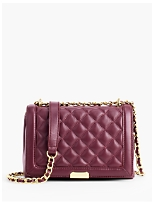 Quilted Chain-Strap Handbag