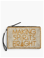 """Making Spirits Bright"" Beaded Pouch"