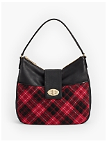 Quilted Greenwich Plaid Hobo Bag