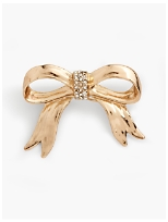 Gold Bow Brooch