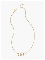 Linked Rings Necklace - 14K Gold-Plated