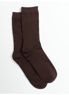 Womans Plus Microfiber Flat Knit Trouser Socks