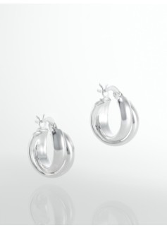 Sterling Silver Swirl Hoops