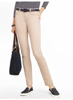 Slimming Heritage Colored Denim Ankle Jeans