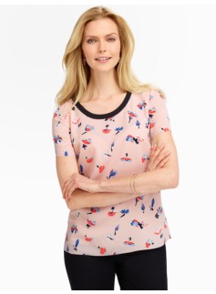 Wildflower Tee-Shirt Blouse