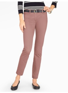 Washed Sateen Ankle Pant