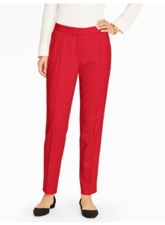 Italian Flannel Tailored Ankle Pant