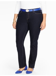 The Flawless Five-Pocket Straight Leg Jean - Deep Sea