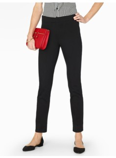 Slimming Side-Zip Ankle Jean - Black