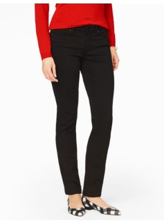 The Flawless Five-Pocket Straight-Leg Jean - Curvy/Black