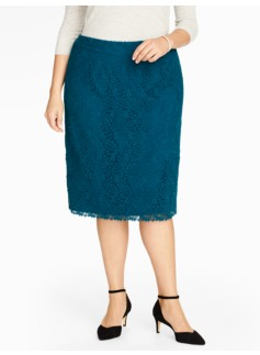 Swirling-Leaves Lace Skirt