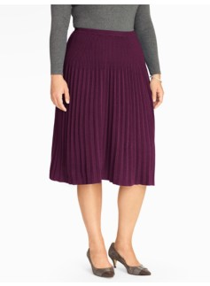 Knife-Pleat Knit Skirt