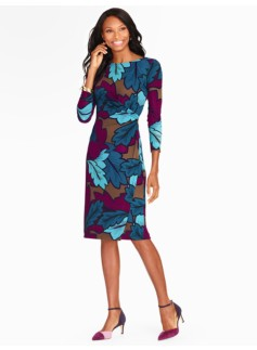 Autumn Leaves Print Dress