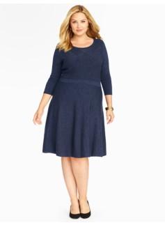 Mixed Rib & Jersey Sweater Dress
