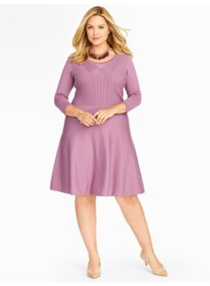 Mixed Rib Merino Sweater Dress